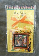 "October Halloween Mary Englebreit Magnetic Paper Hanging Frame 3.5"" x 3.5"""