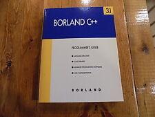 Borland C++ Programmer's Guide 3.1 Book