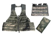 NEW MOLLE ACU Fighting Load Carrier FLC VEST + 2 pouches (Double+Triple) US Army