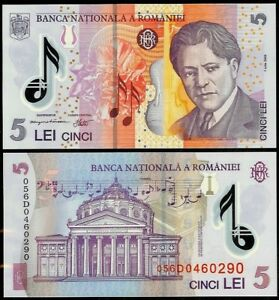 ROMANIA 5 LEI 2005 (05) P118 POLYMER UNCIRCULATED