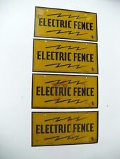Small Tin Caution Electric Fence Signs Sold Separately