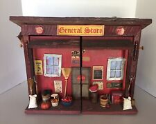 Vintage General Country Store Bird House 15 X 12 Handmade Front Opens Doll House