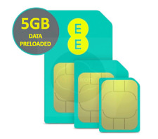 EE 4G Pay As You Go PAYG Trio SIM Card Preloaded With 5GB Data. For 30 Days