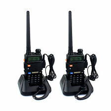2X Retevis RT-5R Walkie Talkie 5W 128CH UHF+VHF 7.4V Two way Radio AU Plug
