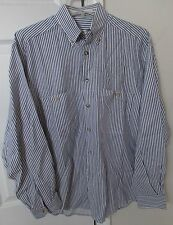 Ermenegildo Zegna Men's Long Sleeve Button Front Casual Shirt Stripes Medium