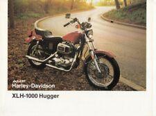 P + HARLEY-DAVIDSON XLH-1000 Hugger + Prospekt flyer + 1 Blatt / 2 Seiten