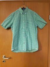 Marc O`Polo Hemd Größe S 38 kariert hellgrün weiß kurzarm