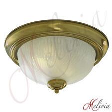 plafonnier Ø29cm geriffeltes verre ancien laiton PLAFONNIER SUSPENSION LAMPE