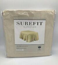 "SureFit Ottoman 2 Piece Relaxed Fit Slipcover 92""x 118"" Duck Natural 100% Cotton"