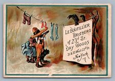 DRY GOODS VICTORIAN TRADE CARD LE BOUTILLIER BROTHERS NEW YORK CITY 23rd STREET