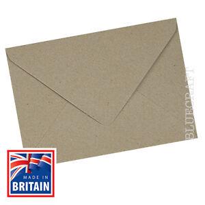 "30 pack x Vintage C6 Recycled Fleck Kraft Envelopes 114 x 162mm - 6 x 4"""