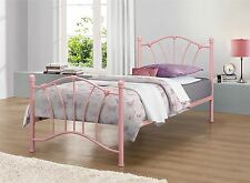 Birlea Sophia Pink Single 3FT 90cm Metal Bed Frame & Deep Havana Mattress