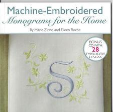 Machine-Embroidered Monogramm für Zuhause Nähen Buch