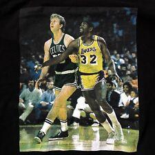 Los Angeles Lakers Boston Celtics Adidas T-Shirt Medium Bird & Magic Dream Team