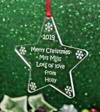 Personalised Teachers' Star Christmas Gift /  Decoration