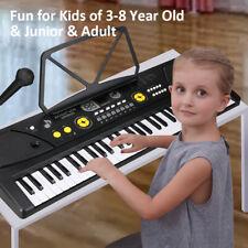 New ListingElectronic Keyboard 61 Key Music Digital Piano Organ with Microphone Black