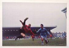 Eric Cantona Rare 1990s Postcard Manchester United v Man City 1996 at Maine Road