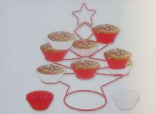 17 tlg.Set : Weihnachts-Muffin-Ständer  mit 16 Silicon-Muffinformen