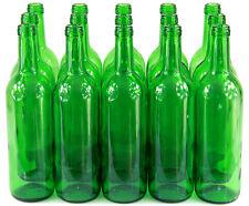 15 Stk. 750ml Weinflasche grün leere Glasflasche Likör Wein Saft mit Korken neu