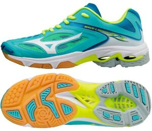 Mizuno WAVE LIGHTNING Z3 Women Volleyball Shoes V1GC170004 Turquoise Blue