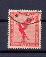 DR 379 I Flugpost 10 Pfg. Plattenfehler gestempelt geprüft Schlegel (lr309)