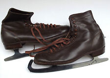 Milbro vintage ice skates Leather skating boots Size 5 Winter sports British