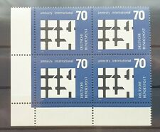 Bund 1974 ** Mi 814 Amnesty Intern Eckrandviererblock 4er Ecke unten links (426)