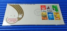 1969 Singapore First Day Cover 150th Anniversary of Singapore Miniature Sheet #3