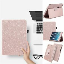 iPad Mini 3/2 Case Glitter Sparkle PU Leather Smart Stand Cover Bling Shiny Pink