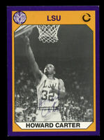 Howard Carter #40 signed autograph auto 1990 LSU Collegiate Collection Card