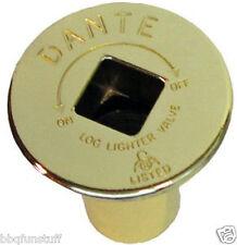Dante Blue Flame Fireplace Brass Floor Plate for Floor Valve FP.GV.BR