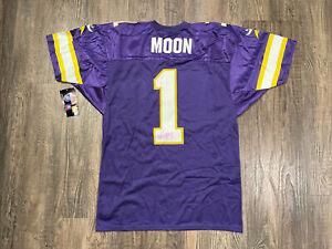 VTG Wilson Minnesota Vikings Warren Moon #1 Auto NFL Adult Jersey Sz 46 USA Made