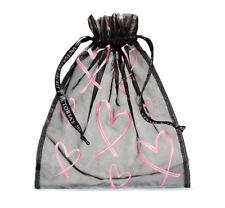 VICTORIA'S SECRET PINK HEARTS MESH LINGERIE DRAWSTRING BAG *BRAND NEW