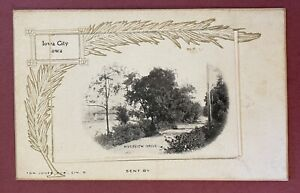 IOWA CITY Postcard With Pop Out 12 Views UDB Mail Card