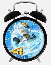 """Lego Ninja Ninjago Alarm Schreibtisch Uhr 3.75"""" Zimmer Dekor X59 Nizza für Geschenke aufwachen"""