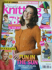 SIMPLY KNITTING ISSUE 149 SEP 2016 WATERMELON CUSHION T-SHIRT TOP TORTOISE HARE