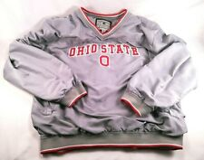 Vintage Colosseum Athletics Ohio State Buckeyes Pullover Warmup Jacket Gray XL