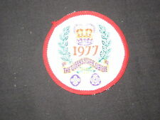 1977 England Queens Silver Jubilee Boy Scout Patch      c2