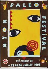 Original vintage poster PALEO SWISS FOLK & ROCK MUSIC FESTIVAL 1992
