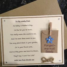 Mother's Day Poem Gift Magnet With A Choice Of Seeds. Mum Mummy Grandma Nanny