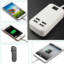 USB 4 Ports Home Travel AC Wall Charger Power Adapter For iPhone Samsung