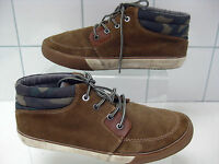 Mens NEXT brown suede SHOES loafers lace ups size UK 6 walking trainers