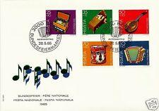 SWITZERLAND, PRO PATRIA 1985, FDC, SCOTT # B513-B517, MICHEL # 1296-1300