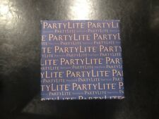 Party Lite Large Candle 13.2 oz. 3 wick decorative glass container Blue Agave