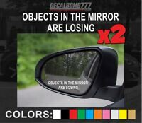 Objects In The Mirror Are Losing Decal Sticker Turbo Diesel Car Truck Turbo Race