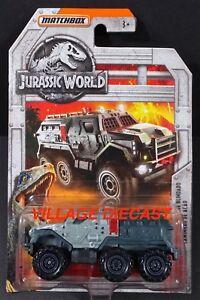 2018 Matchbox Jurassic World™ #2 Armored Action Truck™ GLOSS GREY / RED 05 / MOC