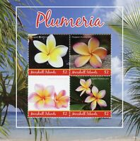 Marshall Islands Stamps 2019 MNH Plumeria Flowers Nature Flora 4v M/S