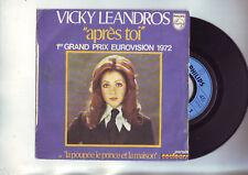 """45 tours vicky leandros -- """" apres toi """" grand prix eurovision 1972"""