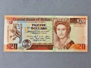 Belize 20 Dollars P-55 1990