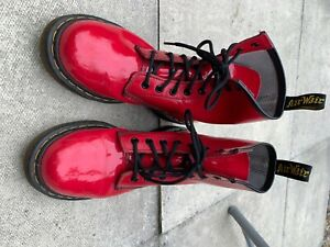 Size 5 1460 Red Patent Dr Marten Boots, hardly been worn